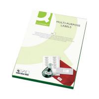 Q-Connect White Multipurpose Label 105 x 37mm Butt Cut 16 Per Sheet (Pack of 1600) KF01132