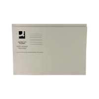 Q-Connect Buff Square Cut Folder Medium Weight 250gsm Foolscap (Pack of 100) KF01190