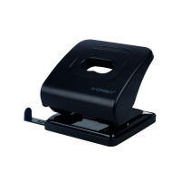 Q-Connect Standard Duty Hole Punch Black 827P