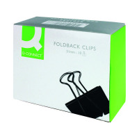 Q-Connect Foldback Clip 51mm Black (Pack of 10) KF01286