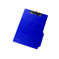 Q-Connect PVC Single Clipboard Foolscap Blue KF01297
