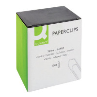 Q-Connect 32mm No Tear Paperclips (Pack of 1000) KF01313