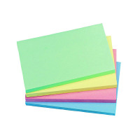 Q-Connect Repositionable 76 x 127mm Pastel Rainbow Quick Notes (Pack of 12) KF01349
