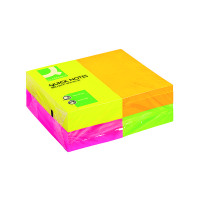 Q-Connect Repositionable 76 x 127mm Neon Quick Notes Pack of 12 KF01350