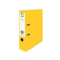 Q-Connect Yellow A4 Paperbacked Lever Arch File (Pack of 10) KF01470