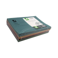 Q-Connect Assorted Square Cut Folders Medium Weight 250gsm Foolscap (Pack 100) KF01492
