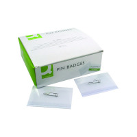 50 x Q-Connect Pin Badge 54x90mm (Pin fastening, supplied with inserts) KF01564
