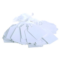 30x21mm White Strung Ticket (Pack of 1000) KF01617
