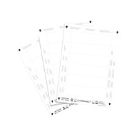 Q-Connect Name Badge Inserts 40x75mm 12 Per Sheet (Pack of 25) KF02288
