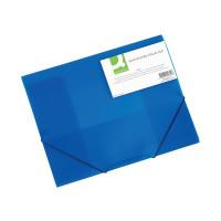 Q-Connect A4 Blue Elasticated Folder KF02312
