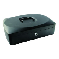 Q-Connect 10 inch Black Cash Box KF02603