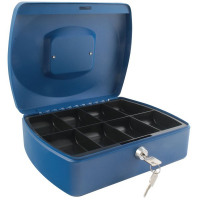 Q-Connect Cash Box 10 Inch Blue KF02624