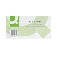 Q-Connect DL Envelopes Plain Wallet Self Seal 80gsm White (Pack of 20 x 50) KF02712