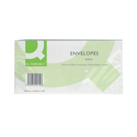 Q-Connect DL Envelopes 100gsm Window Peel and Seal White (Pack of 500) KF03000