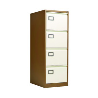 Jemini Coffee/Cream 4 Drawer Filing Cabinet KF03002