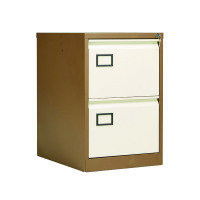 Jemini Coffee/Cream 2 Drawer Filing Cabinet KF03006