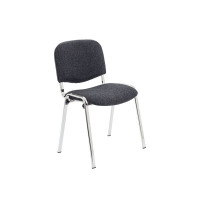 Jemini Ultra Charcoal/Chrome Stacking Chair KF03350
