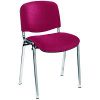 Jemini Ultra Claret/Chrome Stacking Chair KF03351