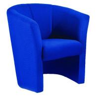 Arista Blue Tub Fabric Chair KF03521
