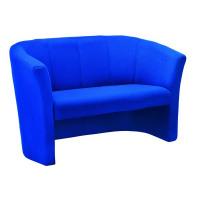 Avior Blue 2 Seat Fabric Tub Sofa KF03524