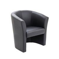 Avior Black Fabric Tub Chair KF03527