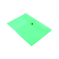 Q-Connect Polypropylene Document Folder A4 Green (Pack of 12) KF03597