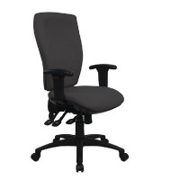 Cappela Deluxe Square High Back Posture Black Chair KF03617