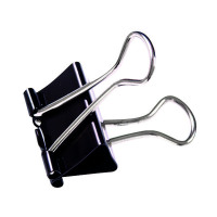 Q-Connect 16mm Black Foldback Clip (Pack of 10) KF03650