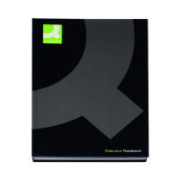 Q-Connect Casebound A4 Hardback Notebook 192 Pages Black (Pack of 3) KF03725