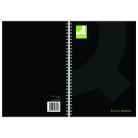 Q-Connect Black A5 Wirebound Hardback Book (Pack of 3) KF03728