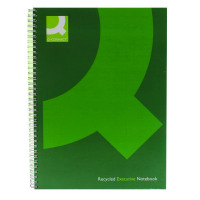 Q-Connect Wirebound A4 Hardback Recycled Notebook 160 Pages Green (Pack of 3) KF03731