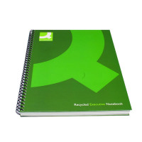 Q-Connect Recycled A5 Wirebound Book (Pack of 3) KF03732