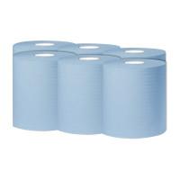 2Work Blue 1 PlyCentrefeed 300 Metre Roll (Pack of 6) KF03803