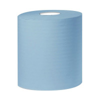 2Work Blue 2-Ply Centrefeed Roll 150 Metres (Pack of 6) KF03805