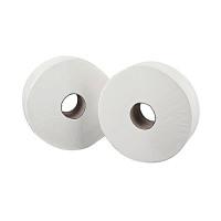 2Work 2-Ply Mini Jumbo Toilet Roll 200 Metres (Pack of 12) J26200VW