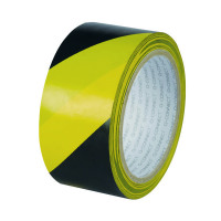 Q-Connect Yellow Black Hazard Tape (Pack of 6) KF04383