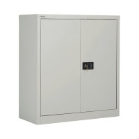 Jemini Grey 2 Door Stationary Cupboard 1000mm KF08501