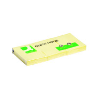 Q-Connect Repositionable 38 x 51mm Yellow Quick Notes (Pack of 12) KF10500