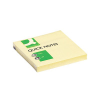 Q-Connect Repositionable 76 x 76mm Yellow Quick Notes (Pack of 12) KF10502