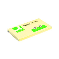 Q-Connect Repositionable 76 x 127mm Yellow Quick Notes (Pack of 12) KF10503