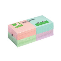 Q-Connect Repositionable 76 x 76mm Pastel Rainbow Quick Notes (Pack of 12) KF10509