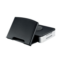 Q-Connect Monitor Stand/Copyholder Black (Built-in Extendable, angled copyholder) KF10700