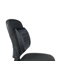 Q-Connect Black Memory Foam Back Cushion KF15412