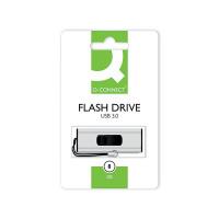 Q-Connect Silver/Black USB 3.0 Slider 8Gb Flash Drive 43202005 KF16368