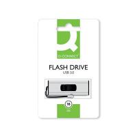 Q-Connect Silver/Black USB 3.0 Slider 16Gb Flash Drive 43202005 KF16369