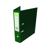 Q-Connect 70mm Lever Arch File Polypropylene Foolscap Green (Pack of 10) KF20028