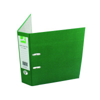 Q-Connect Green A4 Paperbacked Lever Arch File (Pack of 10) KF20040