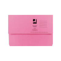 Q-Connect Foolscap Pink Document Wallet (Pack of 50) KF23015