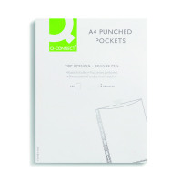 Q-Connect A4 Punched Pocket 50 Micron Clear (Pack of 100) KF24001