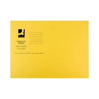 Q-Connect Yellow Square Cut Folder Lightweight 180gsm Foolscap (Pack of 100) KF26027